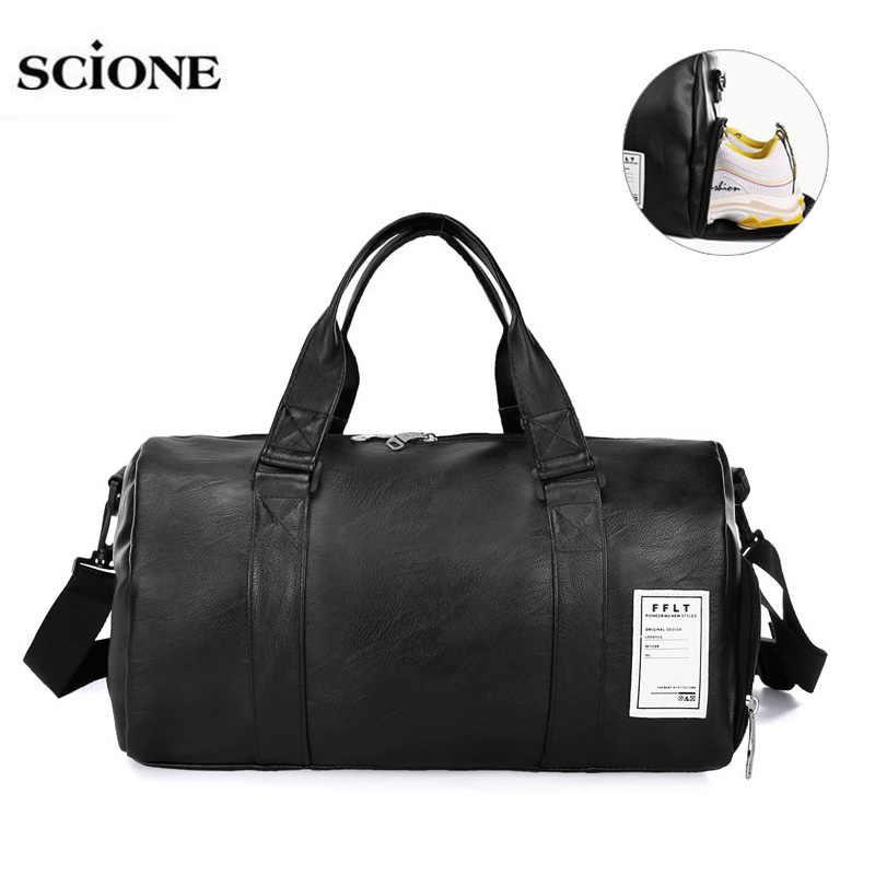 7069e48c61 ... 2019 Gym Bags Leather Sports Bags For Fitness Training Women Men Shoes  Sac De Sport Gymtas ...