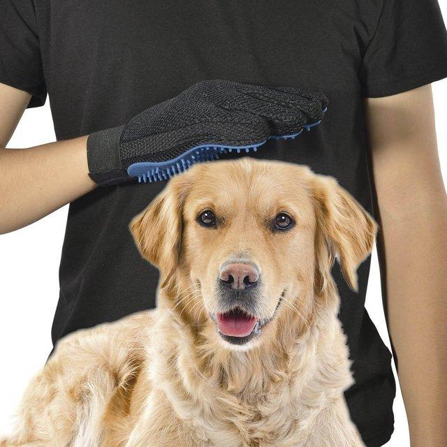 Pet Massage Glove for Dog Cat Grooming Massage Bathing Brush Soft Silicone Pet Deshedding Brush Glove