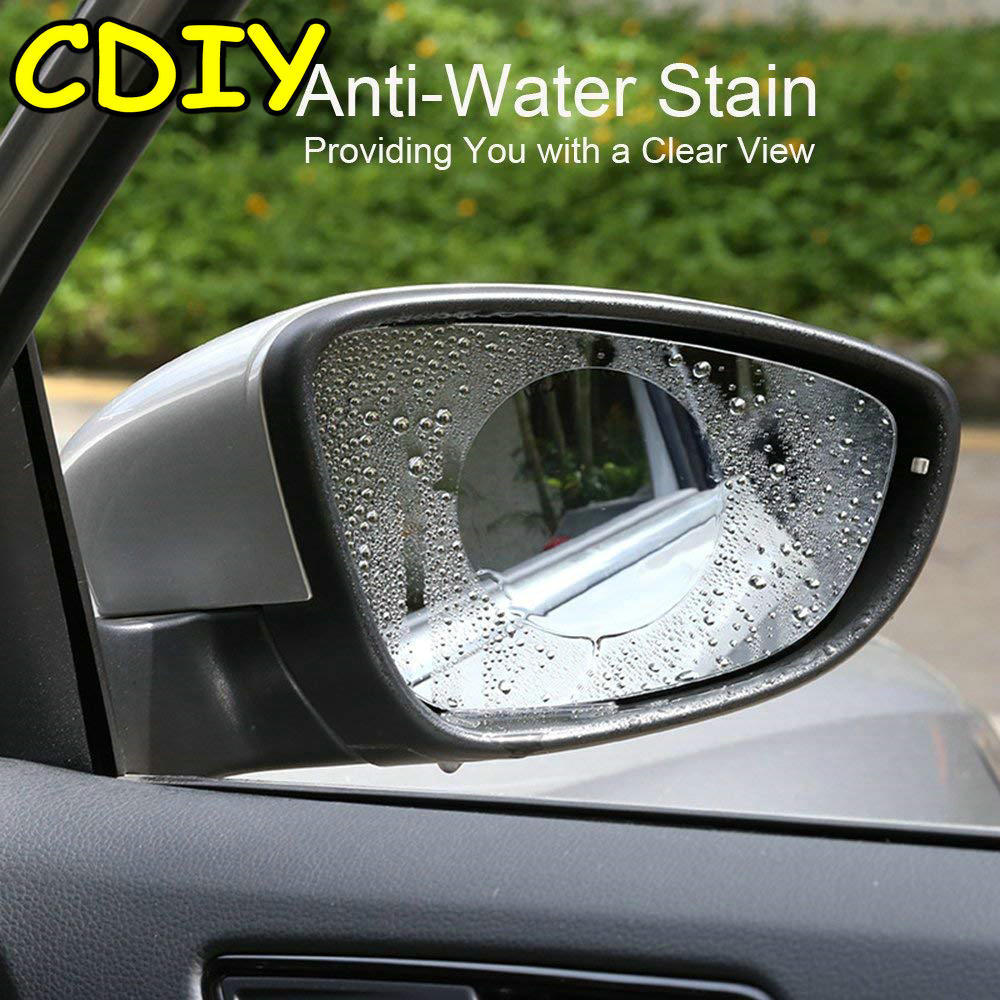 2XCar Anti Water Mist Film Anti Fog Rainproof Rearview Mirror Protective Film OU