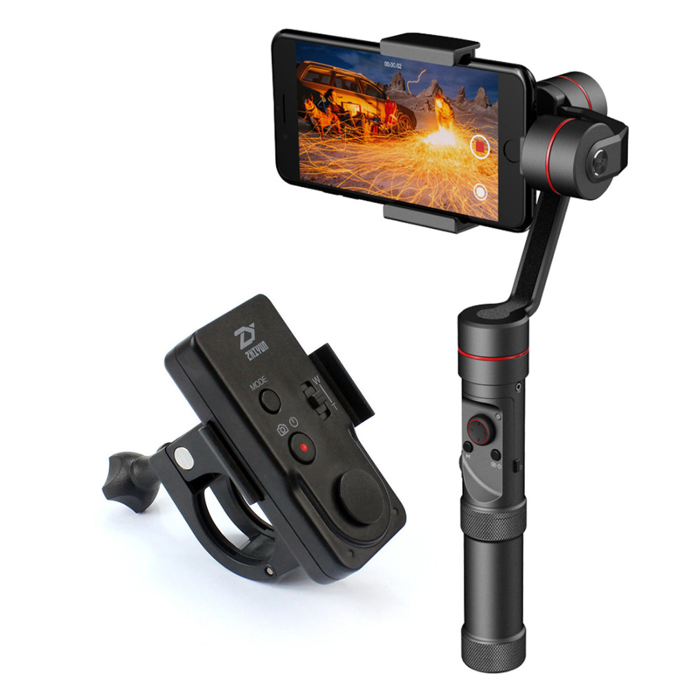Newest Zhiyun Smooth III 3 Handheld Stabilizer Gimbal with Wireless Remote ZW-B02 for Smartphones Gopro Action Cameras F20473-A yuneec q500 typhoon quadcopter handheld cgo steadygrip gimbal black