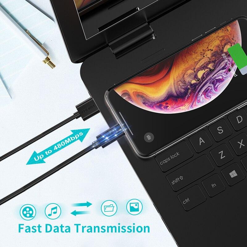 CHOETECH միկրո USB մալուխ 5V 2.4A 1.2 մ 0,5 մ - Բջջային հեռախոսի պարագաներ և պահեստամասեր - Լուսանկար 2