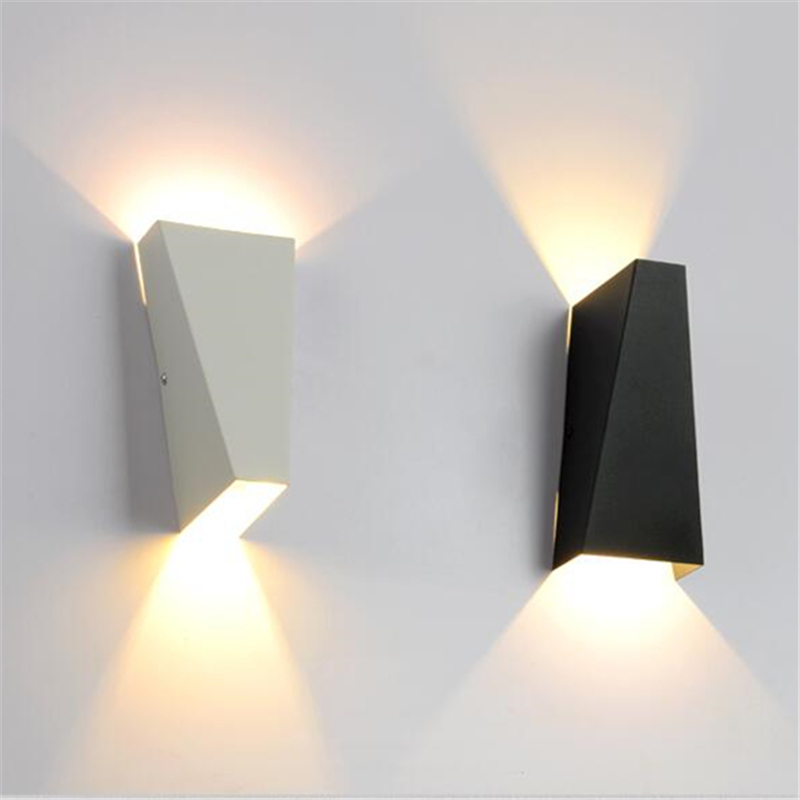 White/Black Nordic Wall Lamp Bathroom Mirror Light Fixtures ...