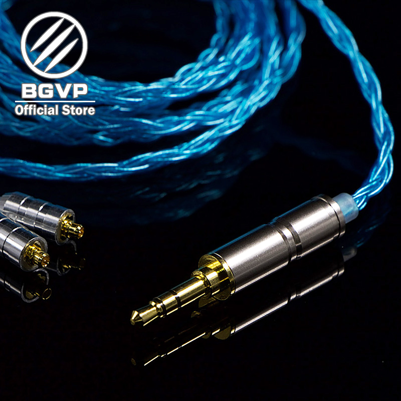 BGVP 5N 160 core earphones Hybrid blue cable 3.5mm DIY aficionados MMCX interchangeable Hifi Headphone upgrade DM6