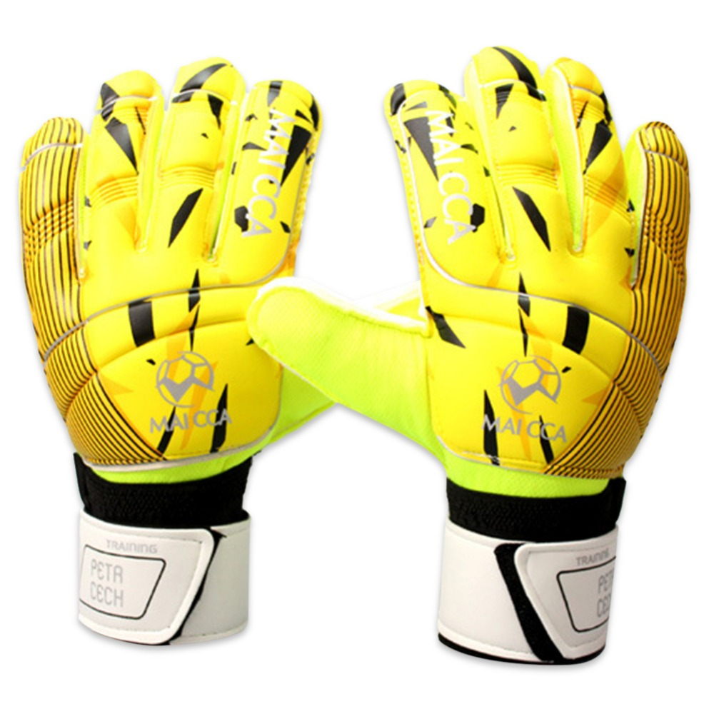 все цены на Professional Goalkeeper Kids Gloves Finger Protection Thickened Latex Soccer Football Tools Gloves Goal keeper Gloves Size8.9