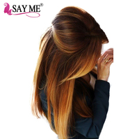 SAY ME Ombre Brazilian Straight Hair Colored 100 Human Hair Weave Bundles Three Tone Non Remy