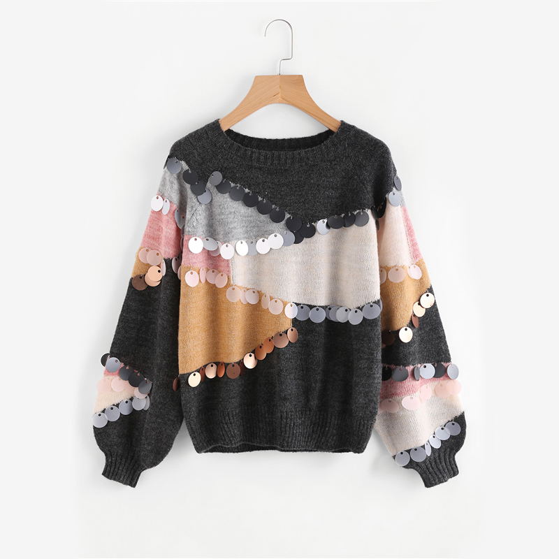 Sequin Decoration Sweater
