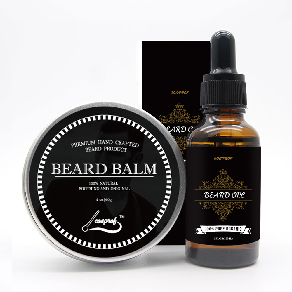 100% Natural Beard Balm Moustache Cream Beard Oil Set Conditioner Beard Balm Healthy Moisturizing Moustache Wax Brush Comb