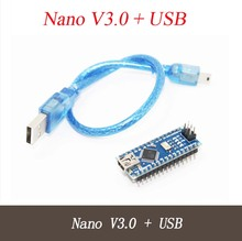 Nano 3.0 controller compatible with nano CH340 USB driver has welding pin with USB cable for Arduino NANO V3.0