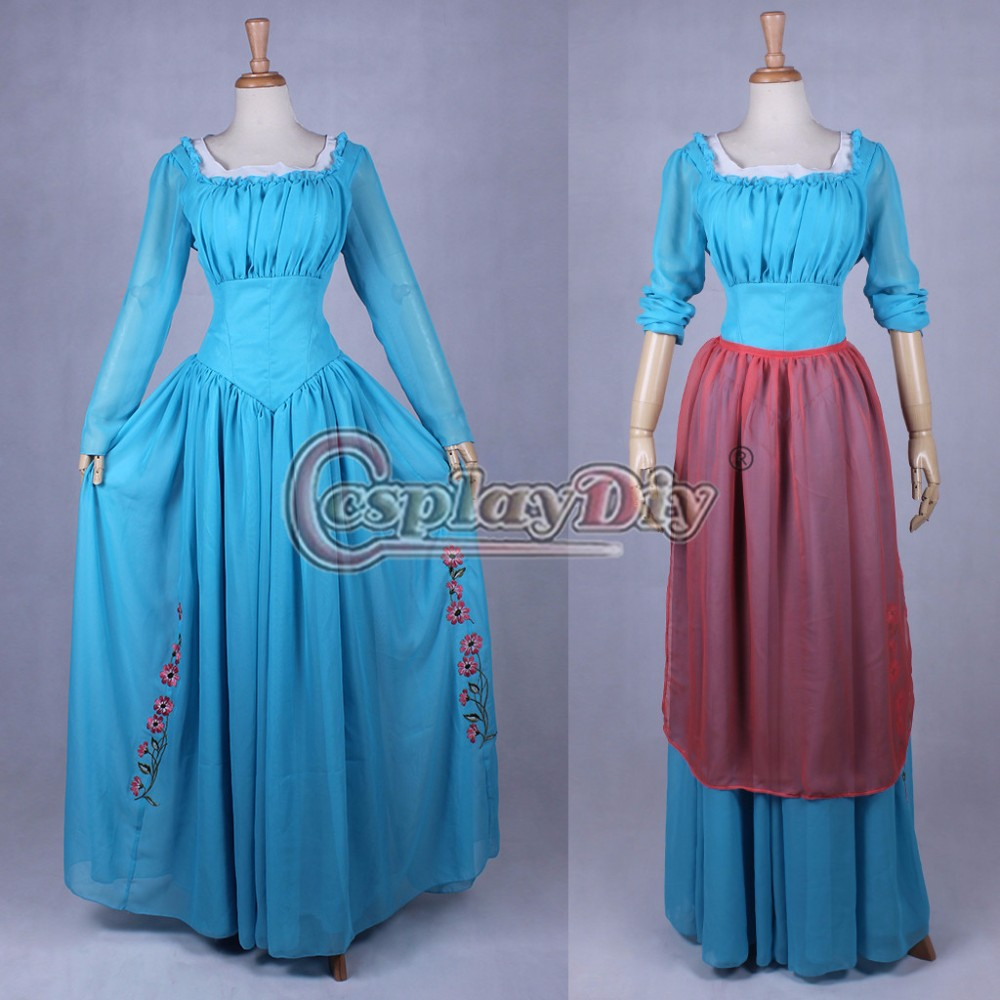 Cosplaydiy Custome Made Cinderella Princess Dress Costume Maid Costume Dress Adult Women Halloween Cosplay Costume L320