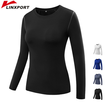 Women Long Sleeve Quick Dry Jackets Compression T-Shirt