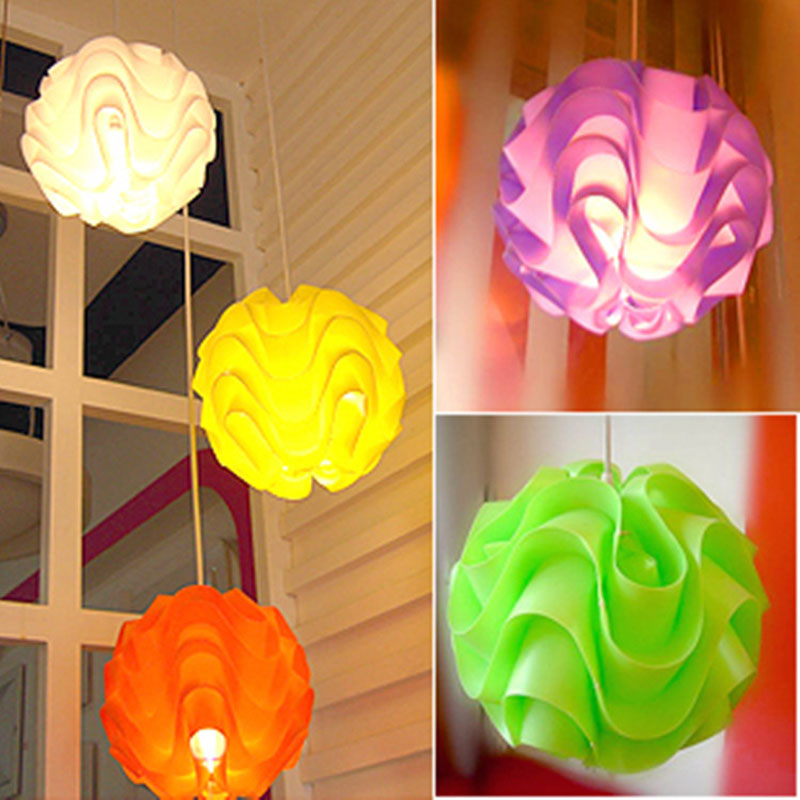 Modern minimalist PVC plastic wave chandelier personalized fashion exquisite fashion restaurant table lamp