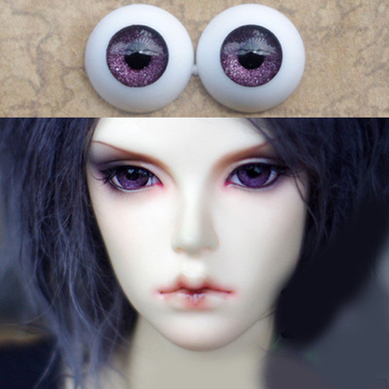 Deep purple bjd doll eyes  for BJD Dolls toys sd eyeball for 1/3 1/4 1/6 8mm 14mm 16mm 18mm 20mm Acrylic EYEs for dolls handmade chinese ancient doll tang beauty princess pingyang 1 6 bjd dolls 12 jointed doll toy for girl christmas gift brinquedo