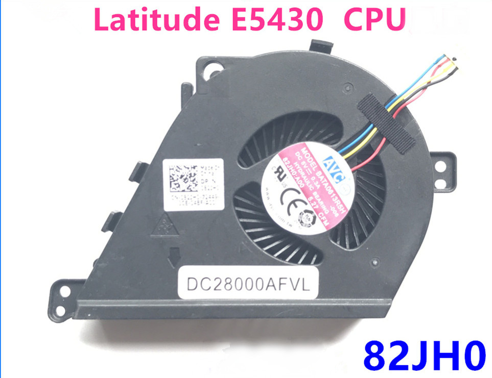 New Original laptop/notebook CPU Cooling <font><b>Fan</b></font> For <font><b>DELL</b></font> <font><b>LATITUDE</b></font> <font><b>E5430</b></font> CPU <font><b>FAN</b></font> DC28000AFVL 82JH0 image