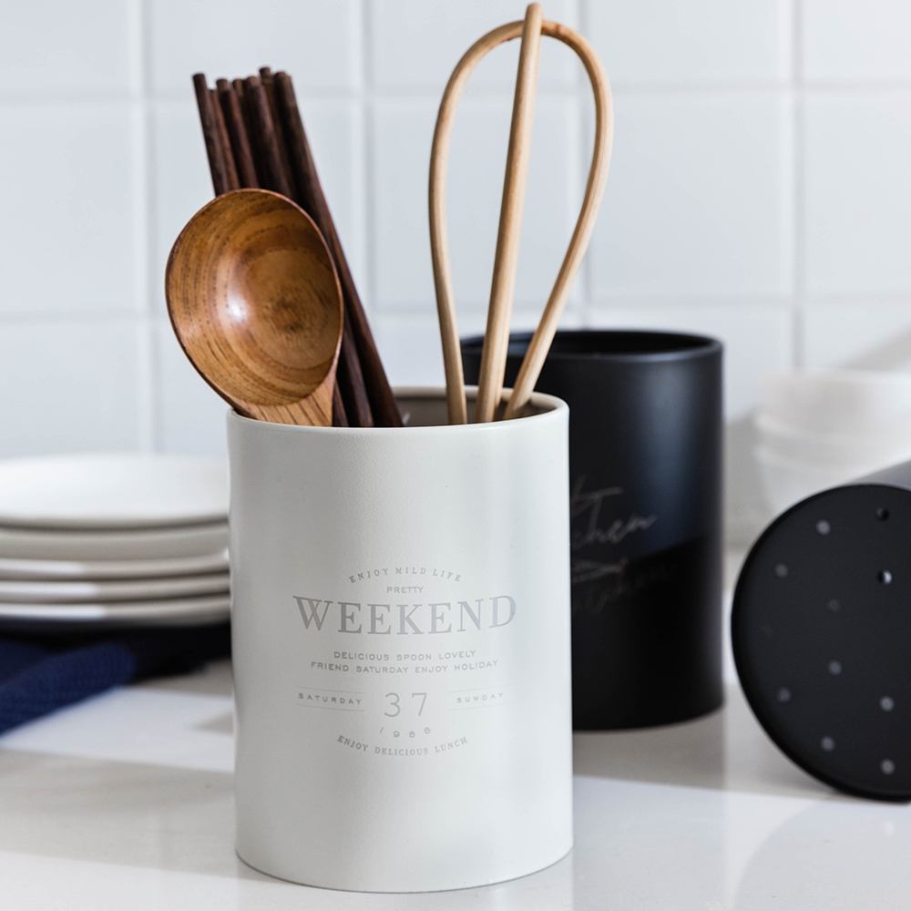 MDZF SWEETHOME Spoon Fork Chopsticks Barrel Stainless Steel Storage Tableware Spoon Fork Box Kitchen Accessories Holder
