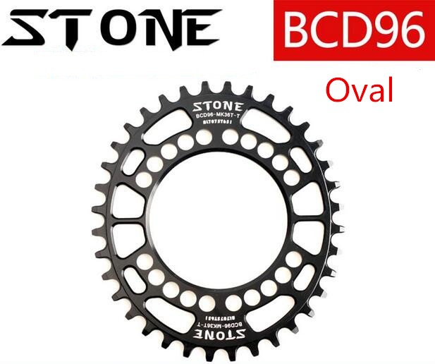 Round/Oval 96BCD 34T/36T/38T/40T/42T/44T/46T/48T Cycling Chainring MTB Bike Chainwheel Crankset Plate for M8000 M9000 Crank t
