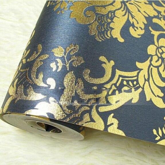 aliexpress.com : schwarz/rot/braun/blau europäischen luxus damast ... - Wohnzimmer Blau Gold