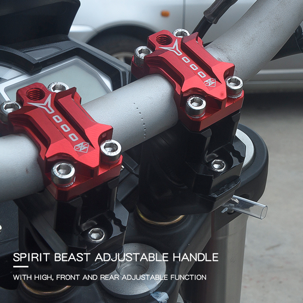 SPIRIT BEAST 22mm 28mm Motorcycle Handlebar Riser CNC Motocross Accessories Moto Scooter Pit Bike Cafe Racer