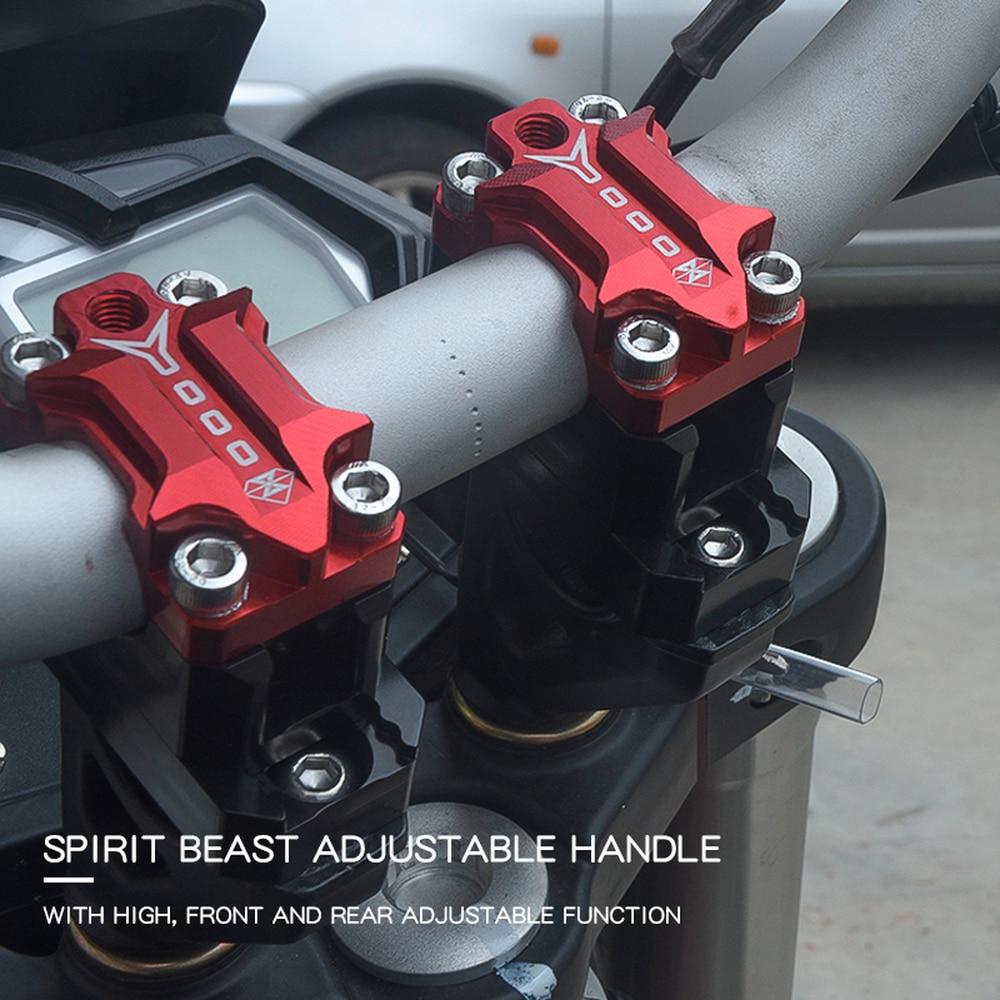 SPIRIT BEAST 22mm/28mm Motorcycle Handlebar Riser CNC Motocross Accessories Moto Scooter Pit Bike Cafe Racer Pitbike Chopper