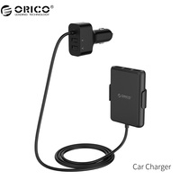 ORICO QC3.0 5 Porty USB Ładowarka Samochodowa Uniwersalna Ładowarka Samochodowa USB szybki Adapter 52 W do MPV Samochodów Telefony Komórkowe Tablet PC 12 V/24 V