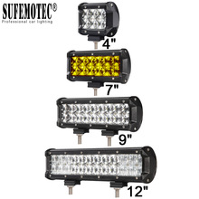 цена на SufeMotec 5D 9.5 Inch 90W LED Work Light Bar for Tractor Boat OffRoad 4WD 4x4 Truck ATV SUV LED Driving Headlight 12V 24v