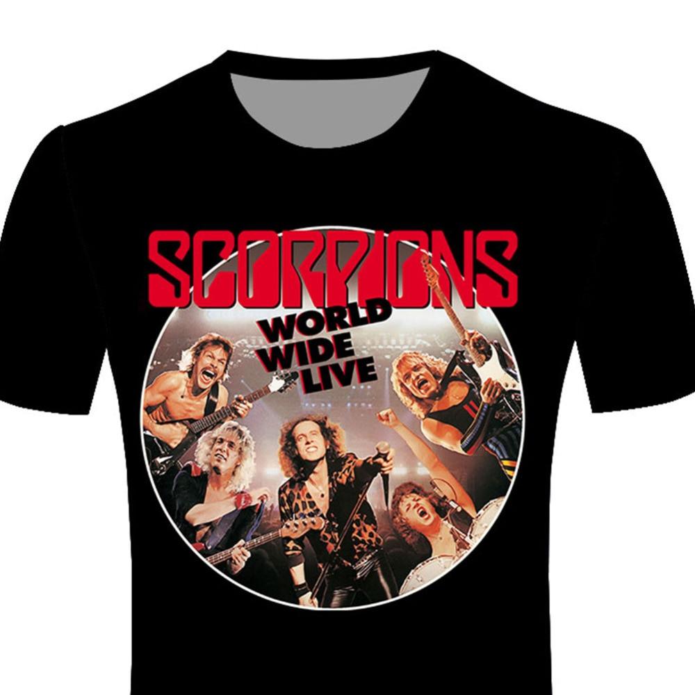 Wholesale Rock Band Album T Shirt New Design Scorpions 3d T Shirts