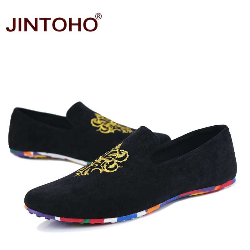 54bbd0bb73e ... JINTOHO fashion suede men shoes soft leather flat shoes casual slip on  moccasins men loafers hight ...