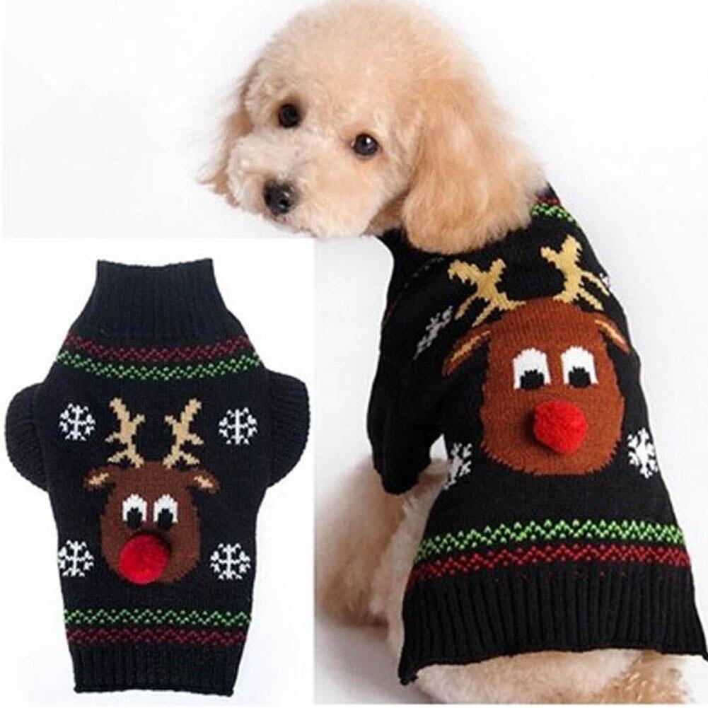 cd3734c25b25 ღ ღОдежда для собак Теплый пуловер Рождество Pet Пальто зимнее ...