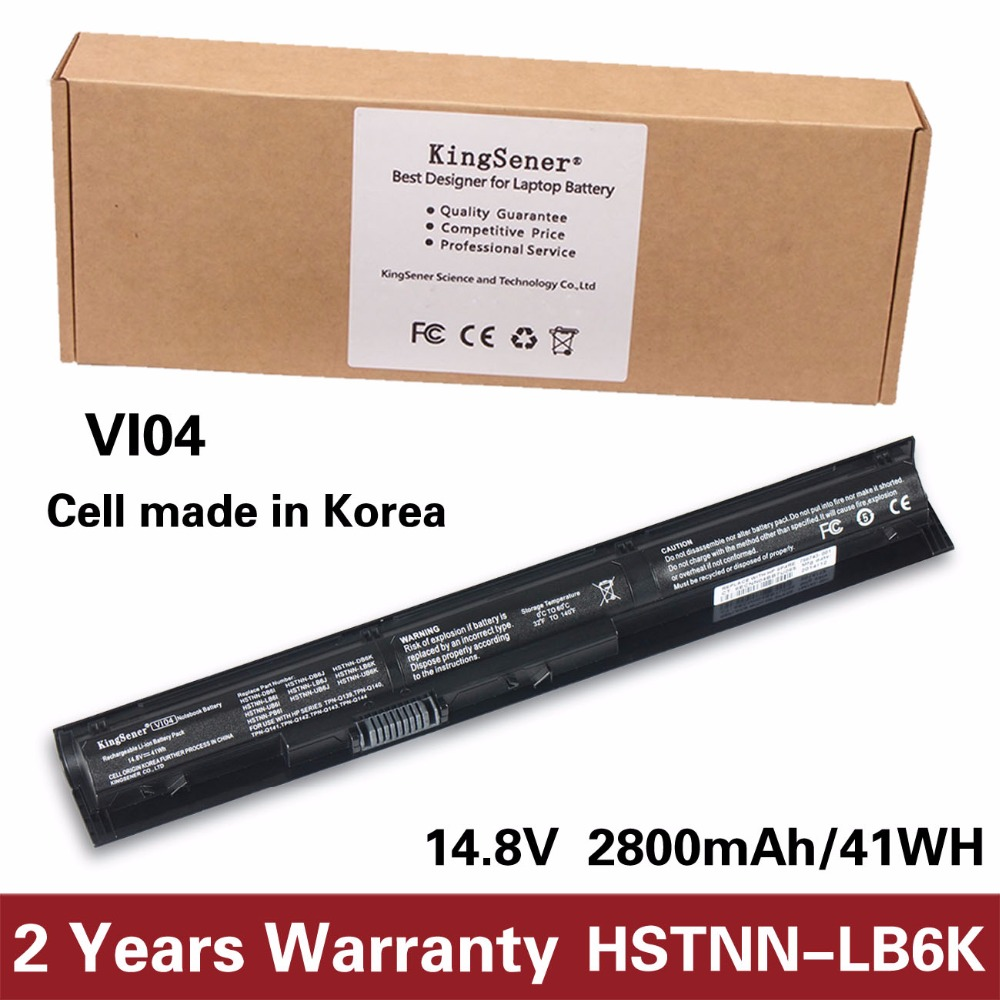 Korea Cell VI04 Battery for HP Pavilion 17 15 ENVY 15-K028TX K031TX K032TX HSTNN-DB6I HSTNN-DB6K HSTNN-LB6J TPN-Q140 TPN-Q141 15 2v 58wh rr04 notebook battery for hp omen 15 15 5014tx tpn w111 778951 421 4icp6 60 80 hstnn lb6n