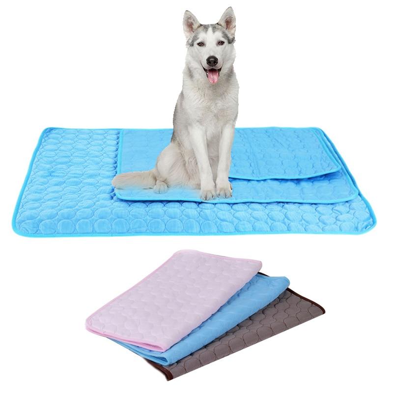 Pet Dog Bed Mat Summer Cooling Pet Nest Floor Bed Puppy Cooling Mat Cool Pad Soft And Comfortable Kennel Mattress Dog supplies