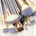 18 Pçs/set Pro Suave Blush Sombra Pincéis de Maquiagem Cosméticos Tool Set + Bag Bolsa