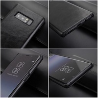 Solque Case For Samsung Galaxy Note 8 Note8 Fundas Genuine Leather Slim Hard Shell Cover Matte