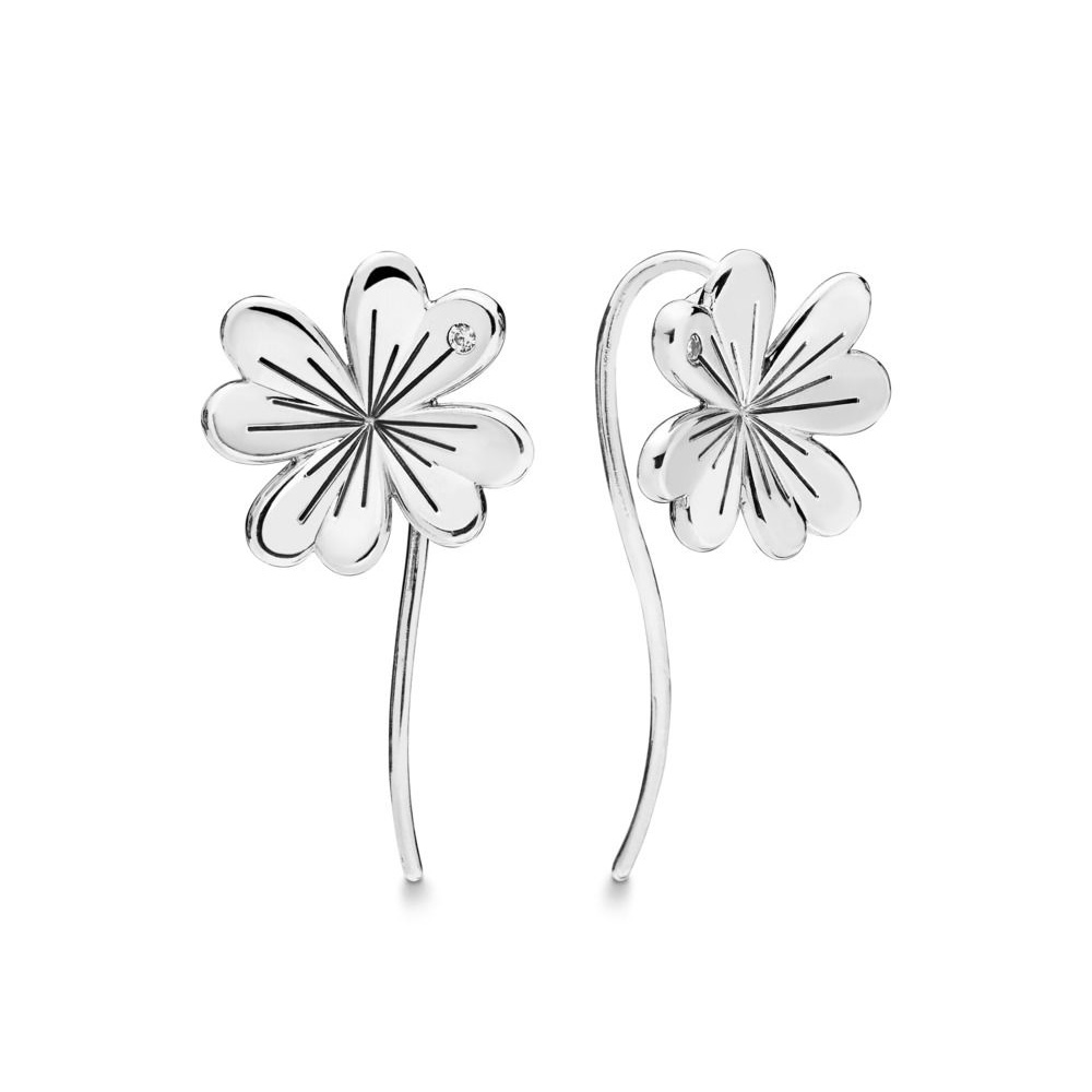 Detail Feedback Questions about 2019 Spring 925 Sterling Silver Original  Lucky Four Leaf Clovers Drop Pandora Earrings For Women Bead Charm Gift DIY  Jewelry ...