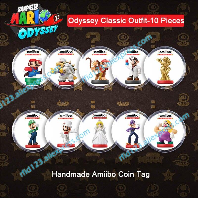 NFC Amiibo Coin Tag for Mario Kart 8 Deluxe/Splatoon2/Mario Odyssey  /Zelda/Super Smash Bro