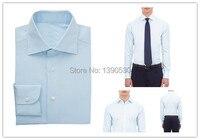 Free Shipping 2014 100 Cotton Light Blue Slim Fit Long Sleeve Desigual Formal Dress Shirts Plus