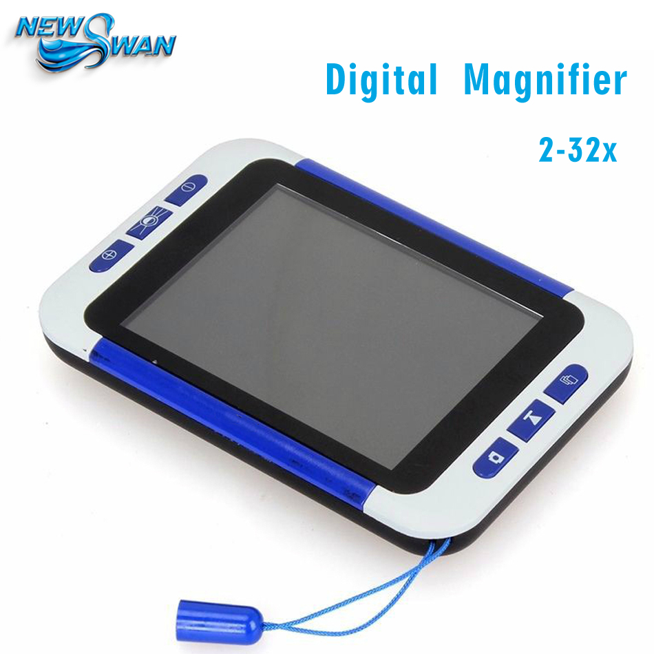 2-32x 3.5Inch Handheld Portable Video Digital Magnifier Electronic Reading Aid Low Vision 2x 32x digital video magnifier low vision reading aids protable electronic magnifier tv magnifier with led light 4 modes evm35