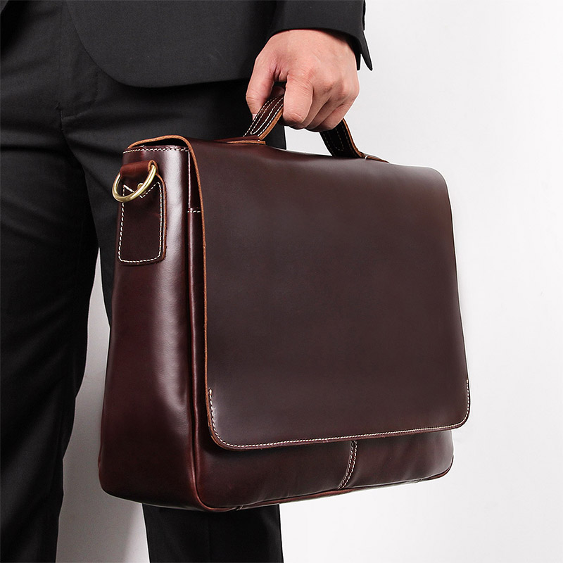 Nesitu Vintage Brown Wine-red Genuine Crazy Horse Leather Office 14 inch Laptop Men Briefcase Portfolio Messenger bags M7108Nesitu Vintage Brown Wine-red Genuine Crazy Horse Leather Office 14 inch Laptop Men Briefcase Portfolio Messenger bags M7108
