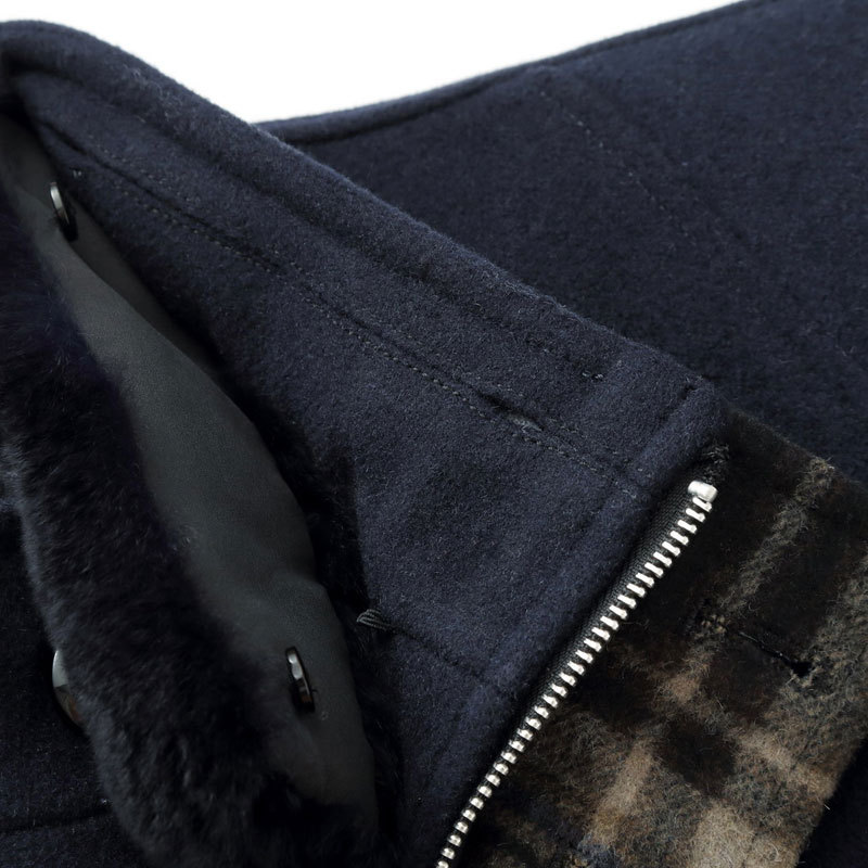 Brand Mens Long Single Breasted Woolen Coats Winter Thicken Male Wool Jackets Fur Collar Wool Blends Men Overcoat 3XL BF1807