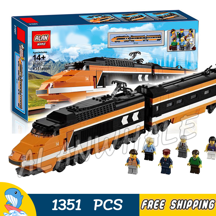 1351pcs Creator Trains High speed Horizon Express 21007 DIY 3D Model Building Blocks Children Toys Bricks Compatible With lego