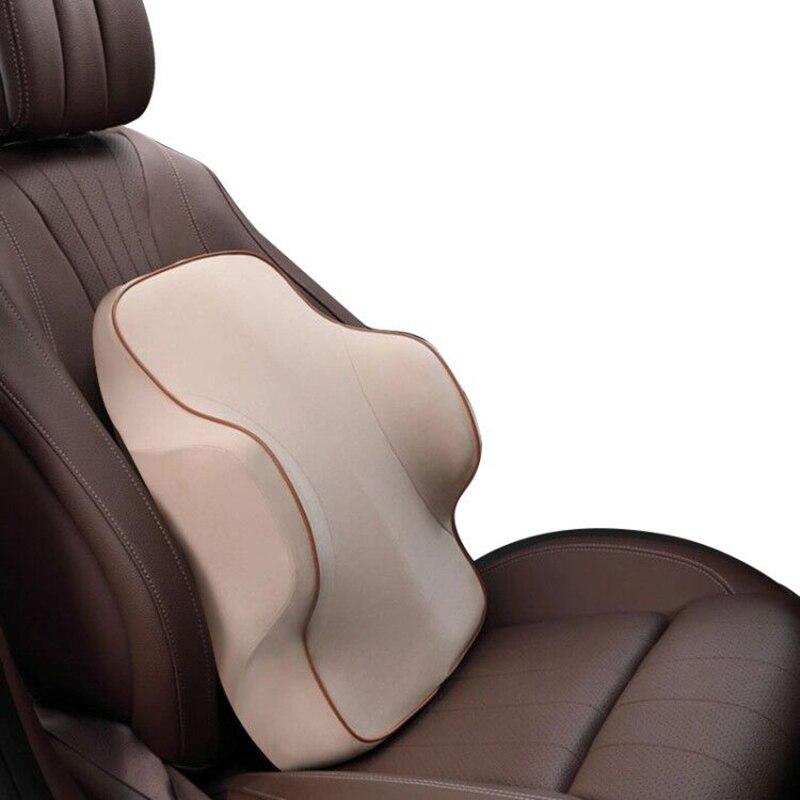 1 PCS Memory Foam Lumbar Support Back Cushion Ergonomic Lumbar Pillow Relieves Sciatica Pain Full Posture Corrector For Car