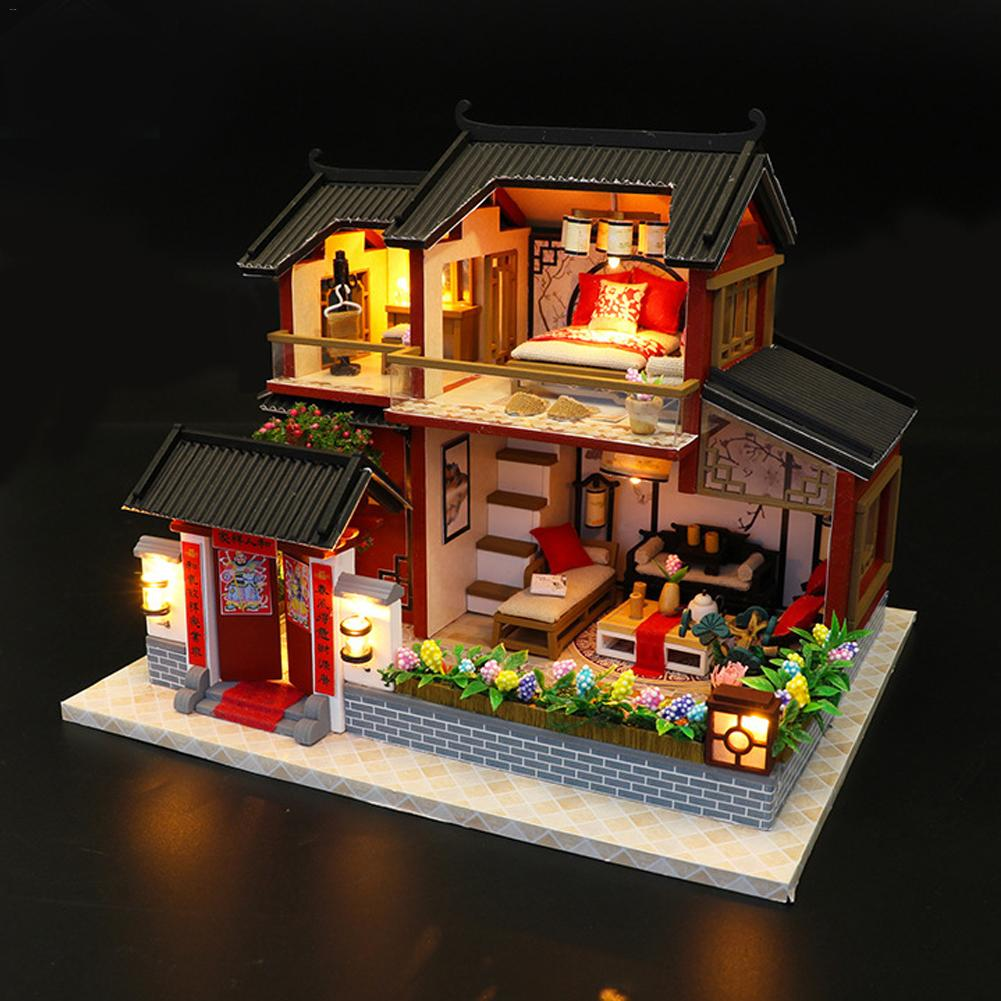 Diy Small House Model Building Model Assembling Chinese Style