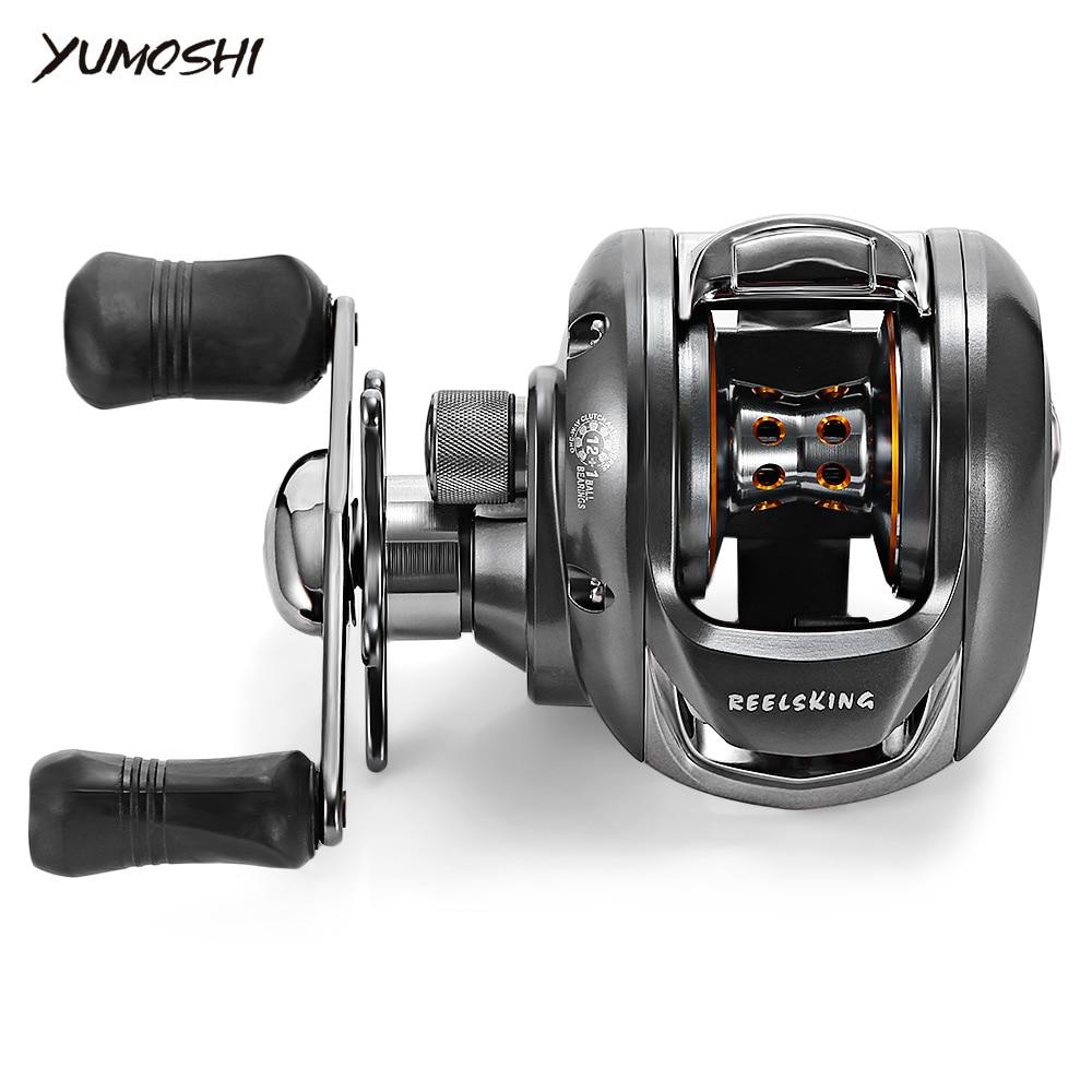YUMOSHI Full Metal 6.2:1 12 + 1 Ball Bearing Fishing Reel Left / Right Hand Bait Fishing Baitcasting Reel Saltwater Carp Fishing стоимость