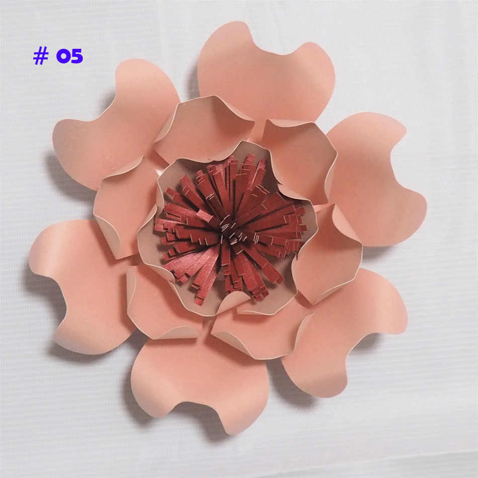 Latest Giant Paper Flowers Artificial Rose Diy Large Paper Rose Wedding Event Backdrop Baby Nursery With Video Tutorials 1 Pcs
