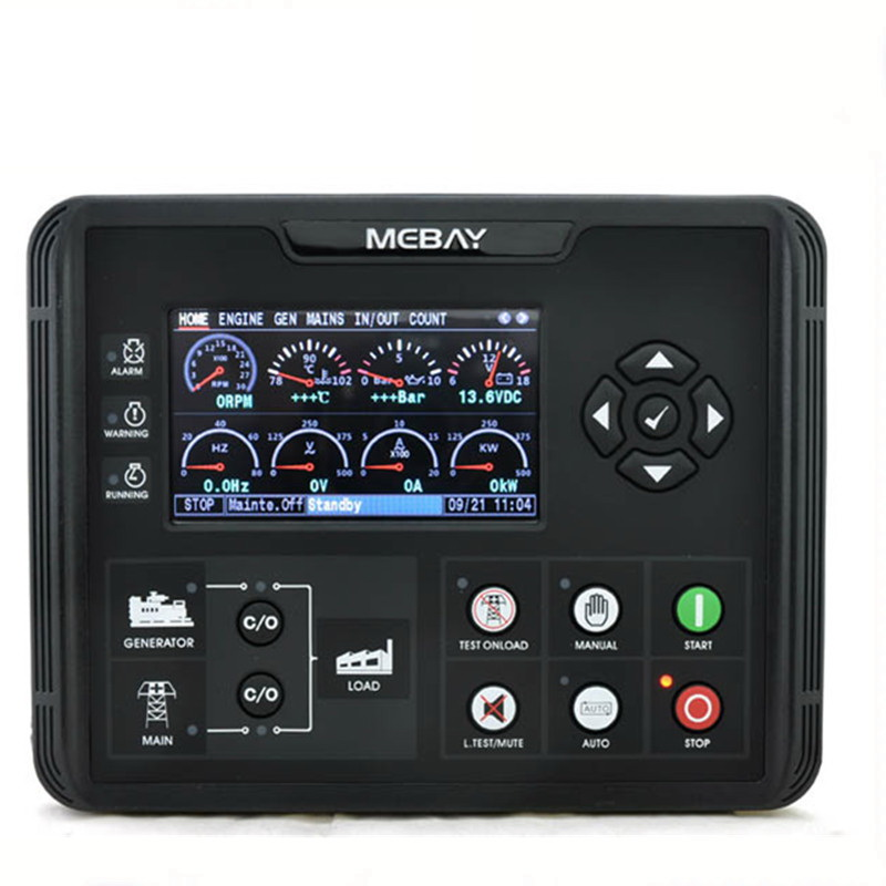 Contrôleur de groupe électrogène DC72D DC72DR pour groupe électrogène Diesel à essence surveillance des paramètres avec écran LCD 4.3