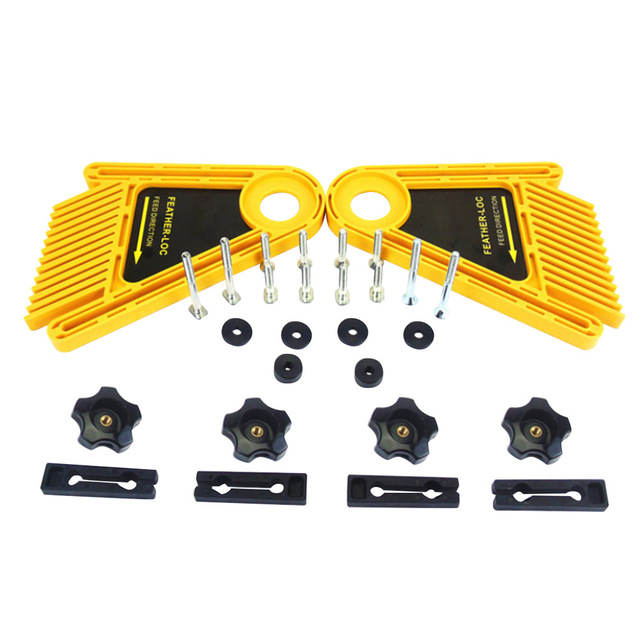 Us 16 86 22 Off Multi Purpose Feather Board Set For Table Saws Woodworking Engraving Machine Double Featherboards Miter Gauge Slot Woodwork In Hand