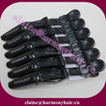 ( 6 pcs/lot ) STOCK Black Aligator Hair Section Clips for Salon Crocodile Hair Clips for Hair Extensions