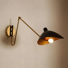 цены Industrial vintage wall light loft room decor jielde lamp Adjustable Iron bedroom bedside living room wall lamps for reading