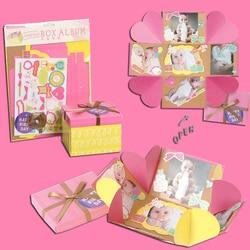 Eno Greeting scrapbooking paper box album explosion box card birthday valentine exploding box photo album pop up card