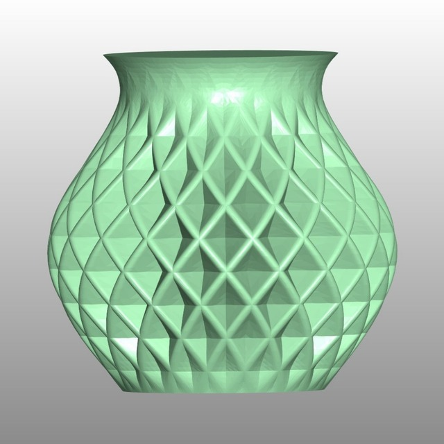Stl Format File For Cnc Router Machine Engraving Relief Spiral Vase