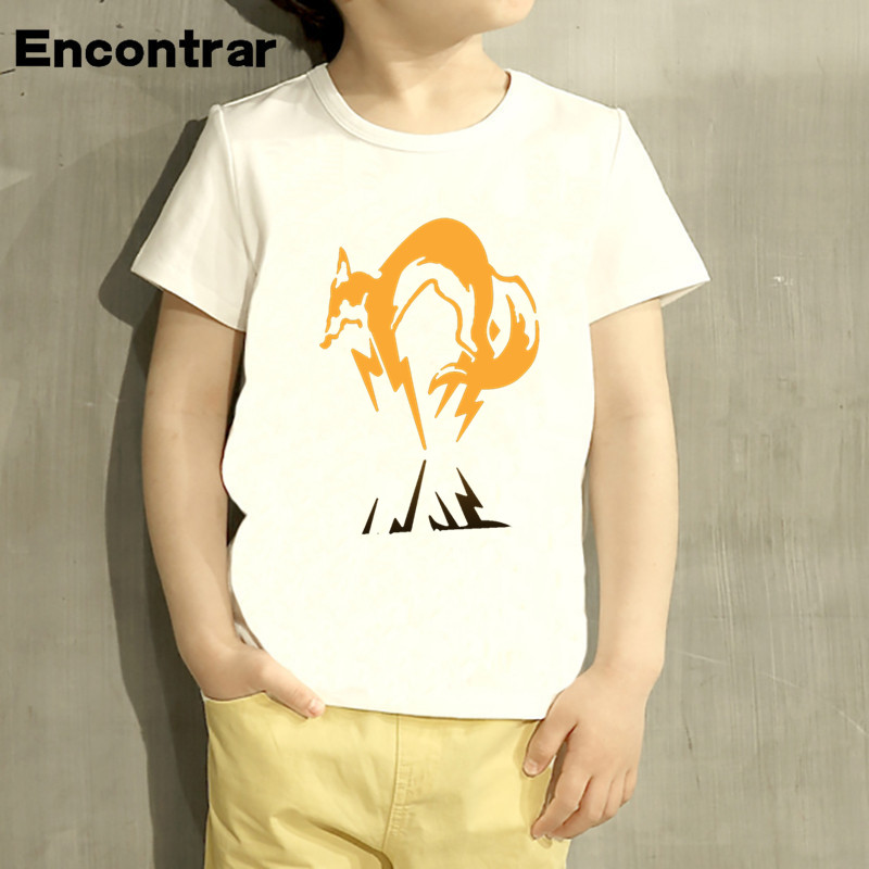 Childrens Metal Gear Solid MGS snake fox Design Baby Boys/Girl T Shirt Kids Funny Short Sleeve Tops Children Cute T-Shirt,HKP374