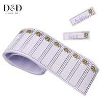 100 pcs/pack Eisen-auf Bee Muster Waschbar Name Etiketten Bekleidungs Stoff Tags Kleidung Etiketten Marker Set für kleidung Zubehör